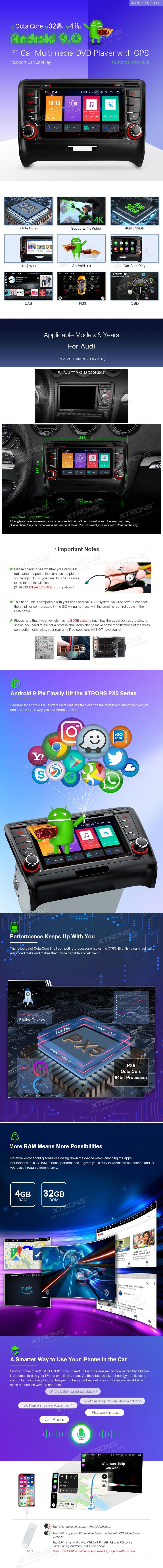 Audi | TT | Android 9 0 | PB79ATTIP